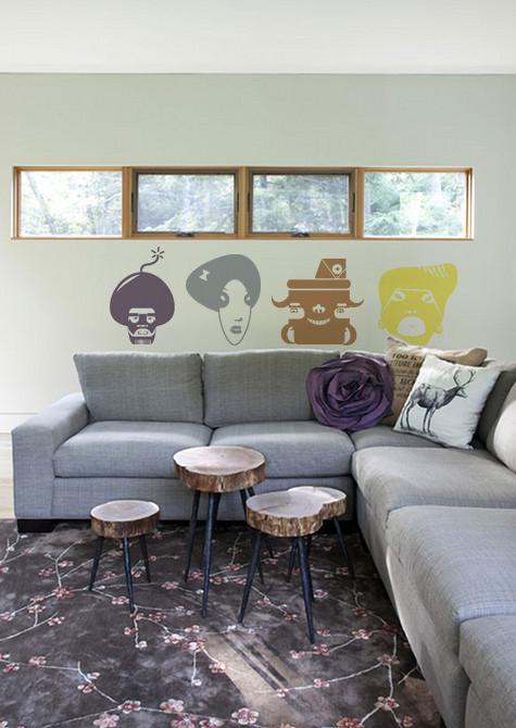 Afro girl homestickers adesivi da parete - Stickers da parete personalizzati ...
