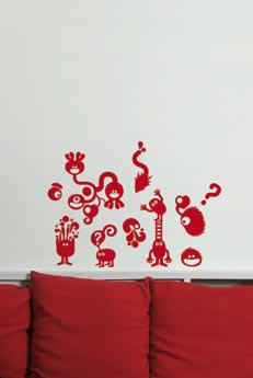 CAOS_RED_homestickers_adesivi_da_parete