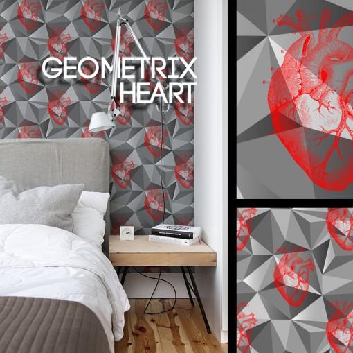 Geometrix heart bis 21x21 texture