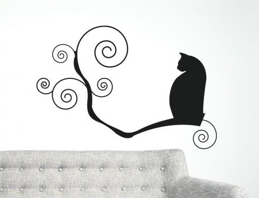 gatto su ramo